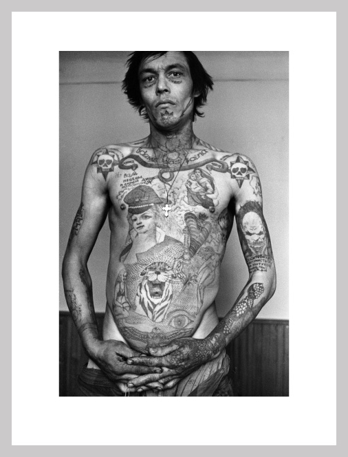 The 'Russian Criminal Tattoo Exhibition' shows 120 original ink drawings by